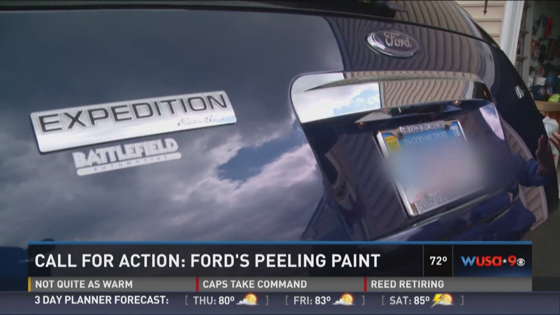Ford paint blistering and peeling on some models