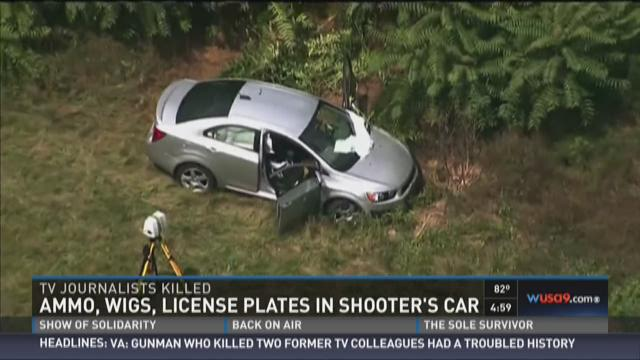 Ammo, wigs, license plates in shooter's car