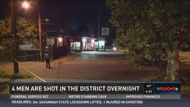 4 men are shot in the District overnight