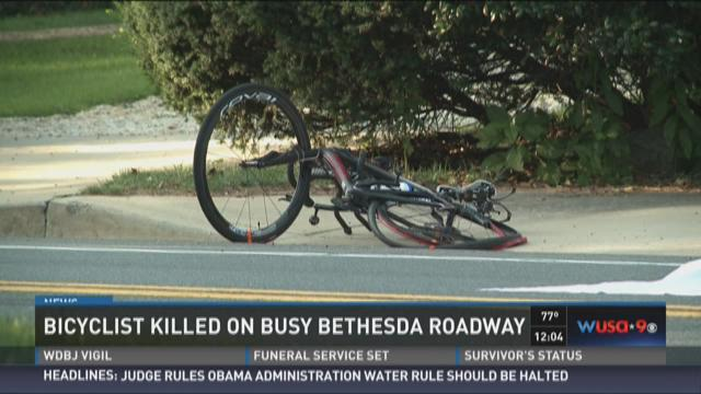 Bicyclist killed on busy Bethesda roadway