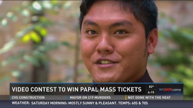 Video contest to win papal mass tickets