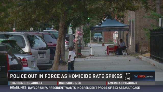 Police out in force as homicide rates spike
