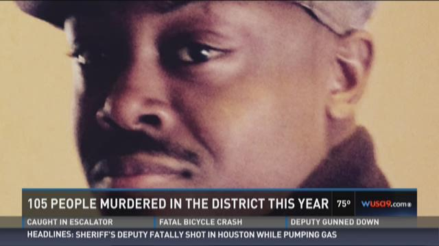 105 people murdered in the District this year