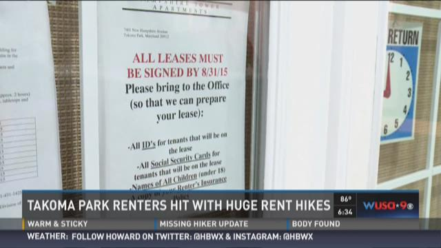 Takoma Park renters hit with huge rent hikes