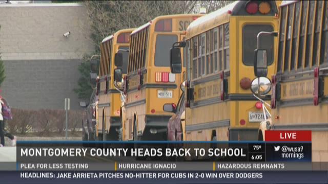 Students enter Walt Whitman High School for Montgomery
