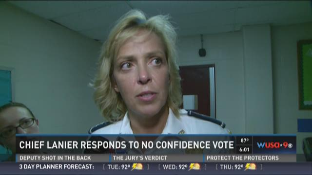 Chief Lanier responds to no conficence vote