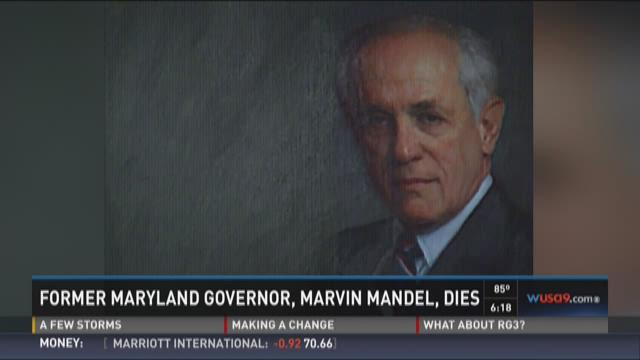 Former Maryland Governor, Marvin Mandel, dies
