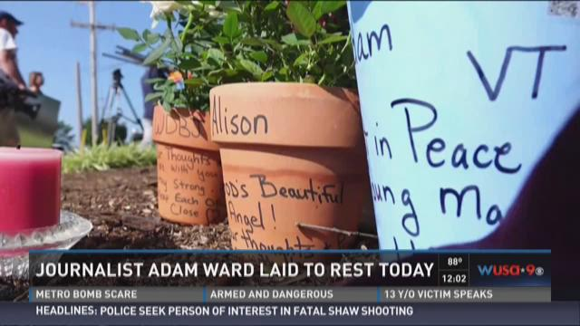 Journalist Adam Ward laid to rest today