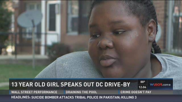 13-year-old girl speaks out about DC drive-by