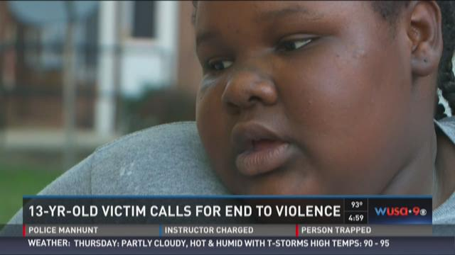 13-year-old victim calls for end to violence