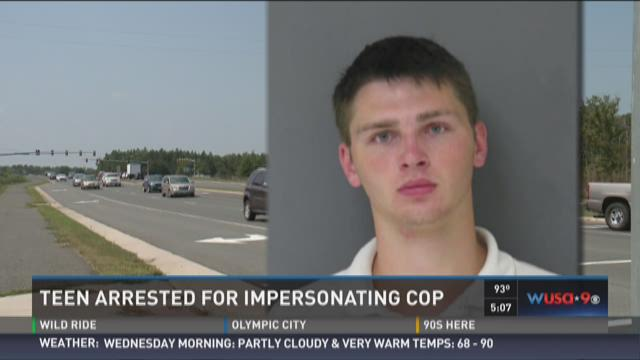 Teen arrested for impersonating cop