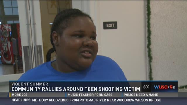 Community rallies around teen shooting victim