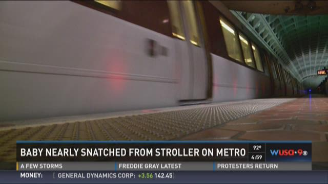 Baby nearly snatched from stroller on Metro