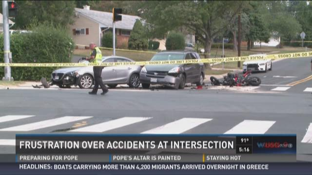 Frustration over accidents at intersection