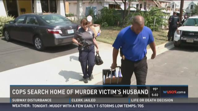 Husband's house searched in Arlington murder