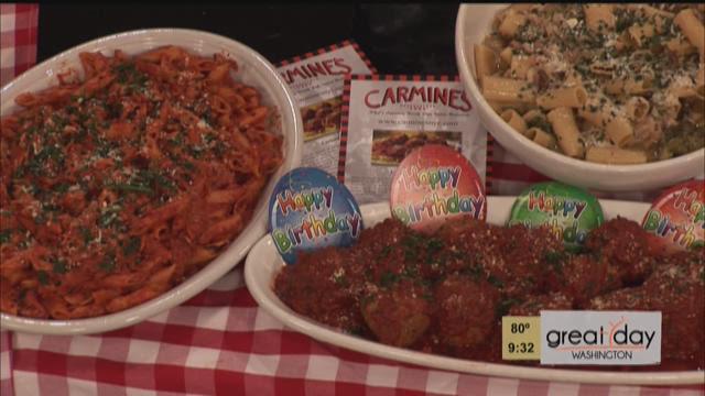Carmine's cooks country style Rigatoni