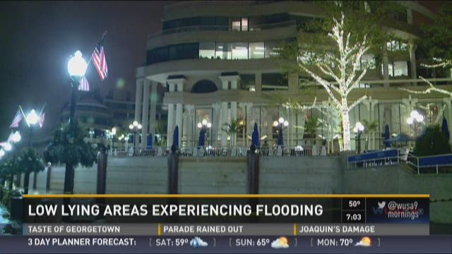 Low lying areas experiencing flooding