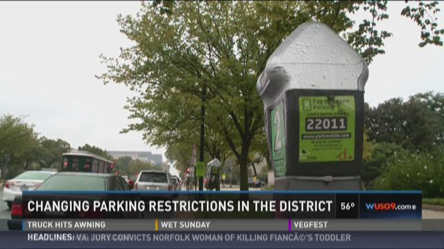 Changing parking restrictions in the District