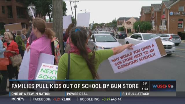 Families pull kids out of school near gun store