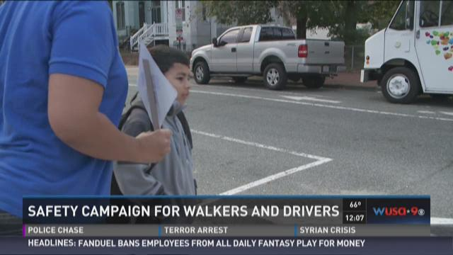 Safety campaign for walkers and drivers