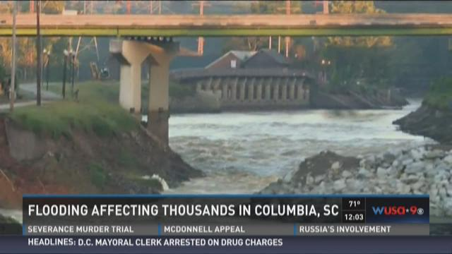 Flooding affecting thousands in Columbia, SC