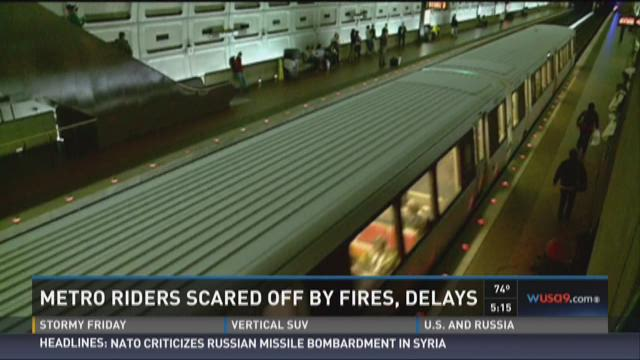 Metro riders scared off by fires, delays