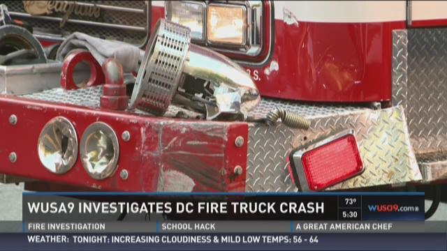 WUSA9 investigates DC fire truck crash