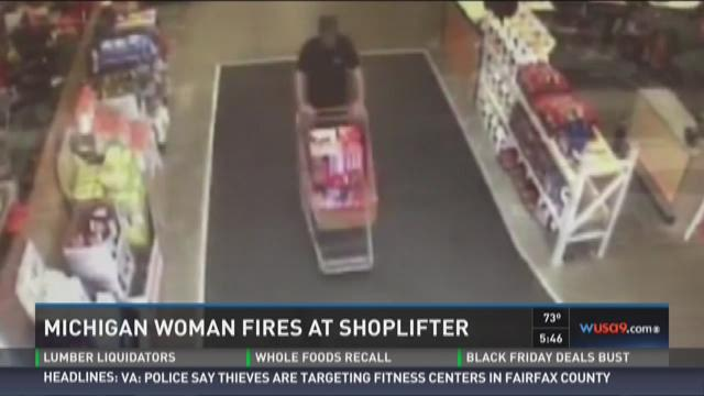 Michigan woman fires at shoplifter