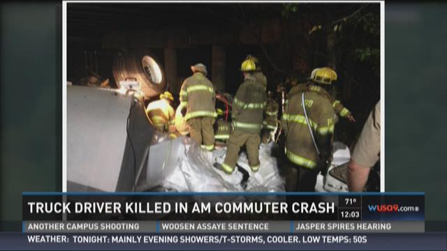 Truck driver killed in AM commuter crash