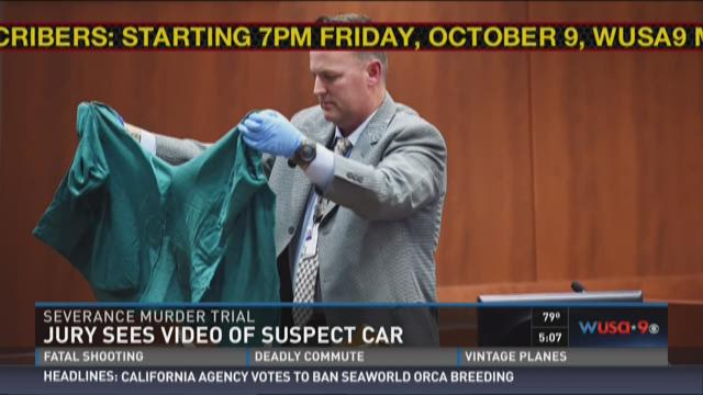 Jury sees video of suspect car in Severance trial