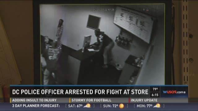 MPD officer arrested after fight at cell phone store