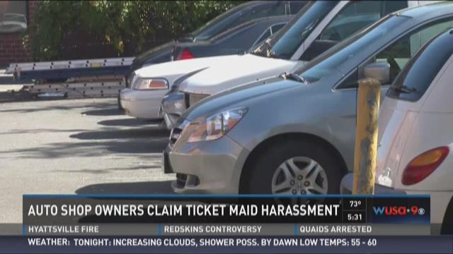 Auto shop owners claim ticket maid harassment