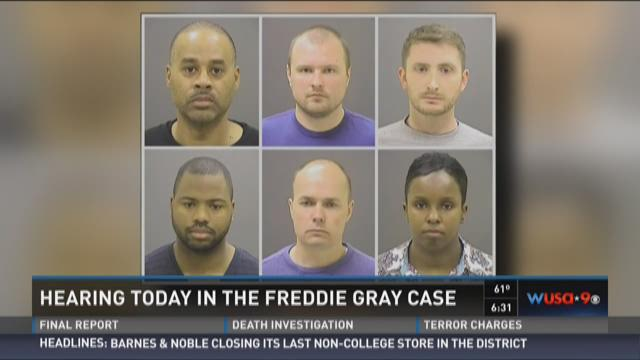 The six officers charged in Freddie Gray's death.