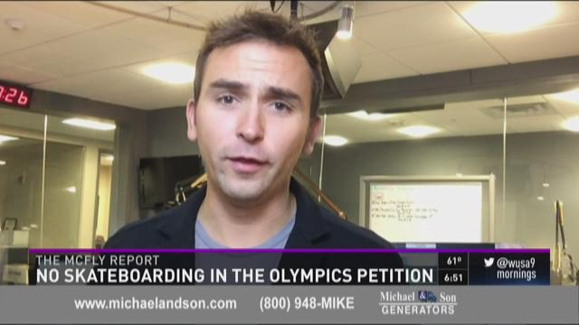 McFly Report: No skateboarding in the Olympics petition