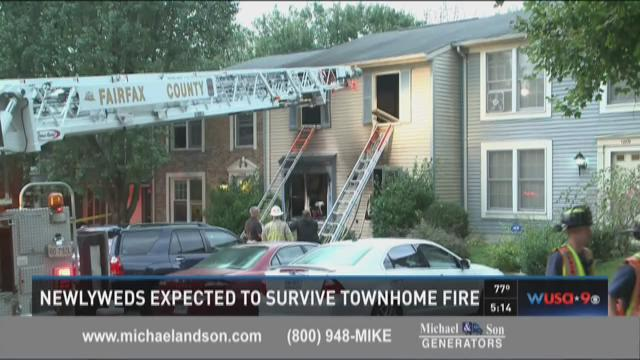Newlyweds expected to survive townhome fire