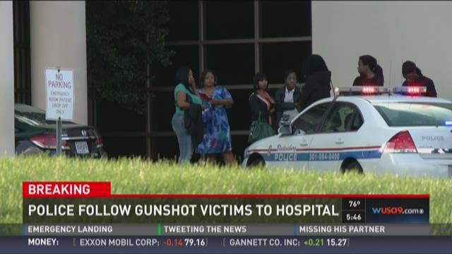 Police follow gunshot victims to hospital