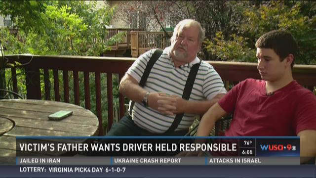 Victim's father wants driver held responsible
