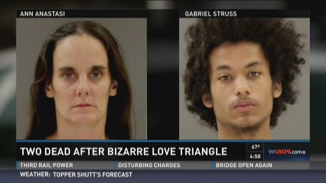 Two dead after bizarre love triangle