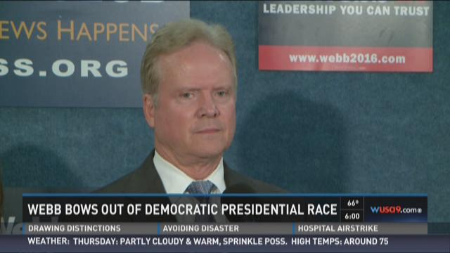 Webb bows out of Democratic presidential race