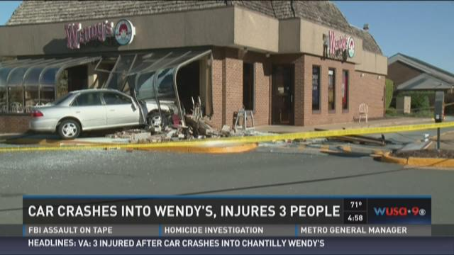 Car crashes into Chantilly Wendy's