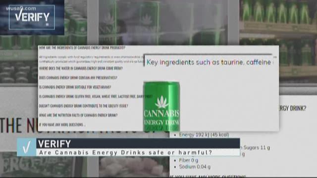 Verify Are Cannabis Energy Drinks Safe Or Harmful Wusa9 Com
